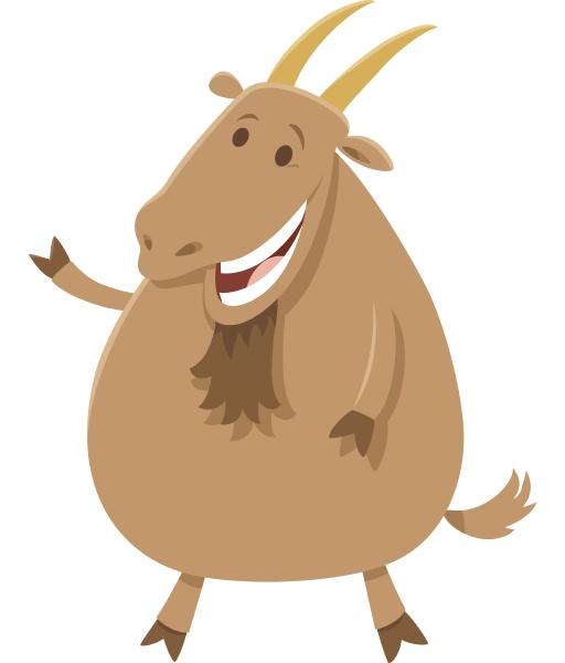 happy cartoon goat farm animal character