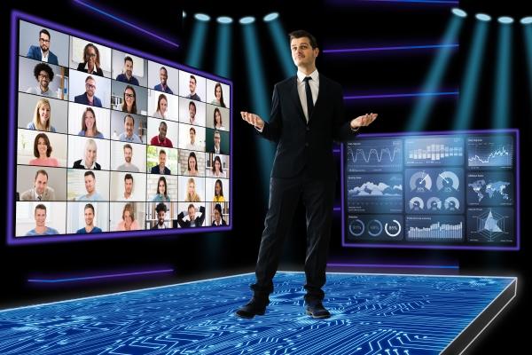 speaker at virtual training seminar
