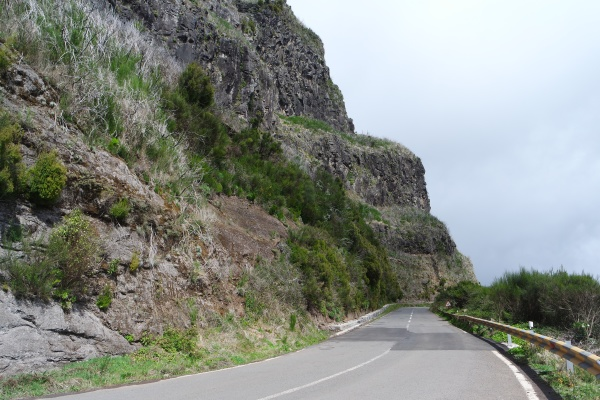 road in the mountains madeira