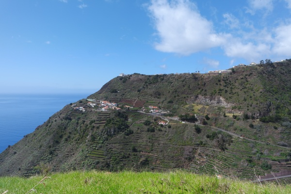 landscape with terraced fields madeira