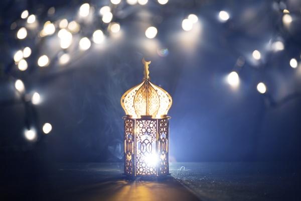arabic lantern ramadan kareem background
