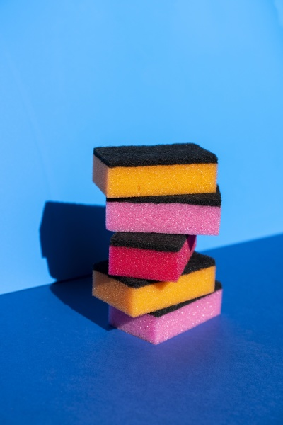stack, of, colorful, cleaning, sponge, on - 29111875