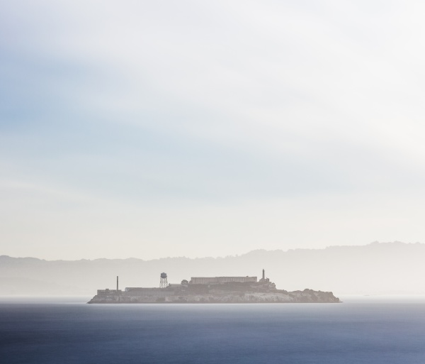 alcatraz island during morning san francisco