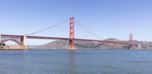 golden gate bridge over sea at