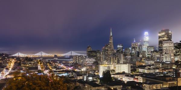 illuminated cityscape of san francisco california
