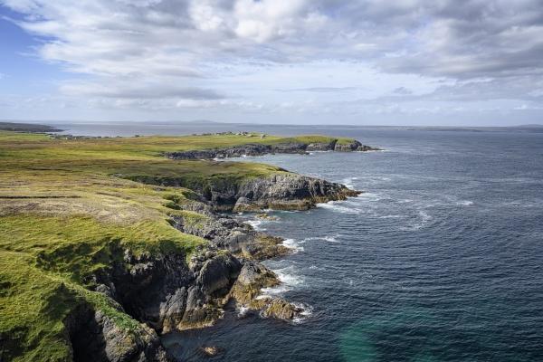 uk scotland rocky cliffs