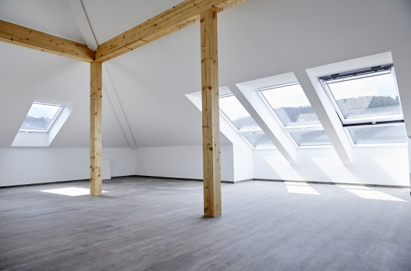 interior of empty room with wooden