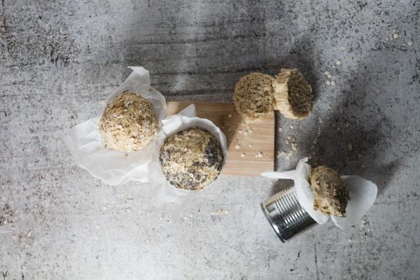 studio shot of fresh breads baked