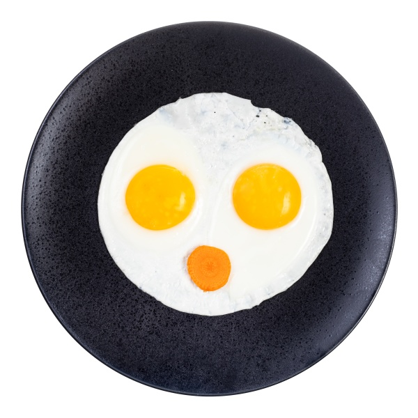 top view of fried eggs and