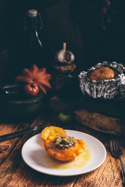 baked pattypan squash