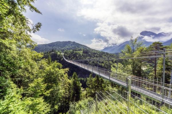 austria tyrol reutte highline179 stretching over