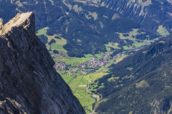 austria tyrol ehrwald alpine town in