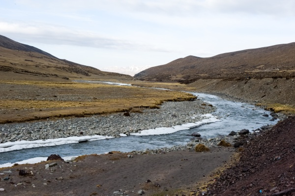 mountain river in tibet the