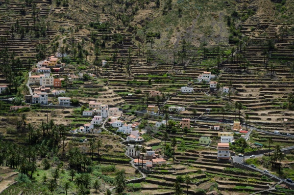 landscape in valle gran rey