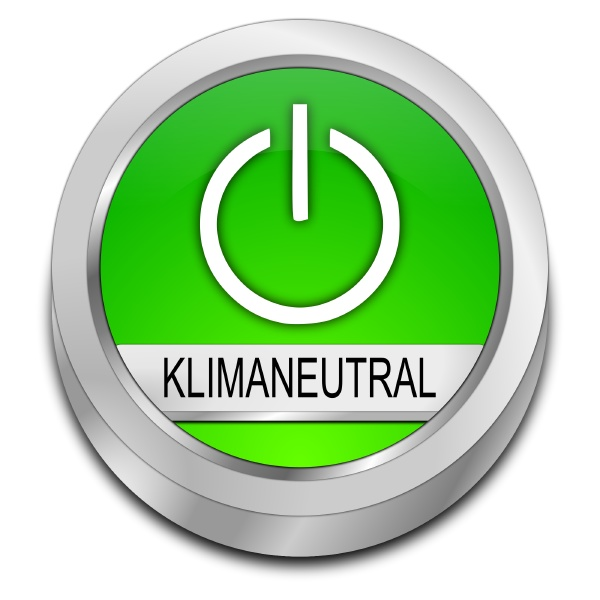 green climate neutral button in