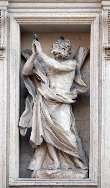 saint andrew the apostle statue on