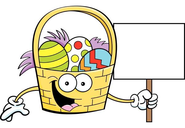 cartoon illustration of an easter basket