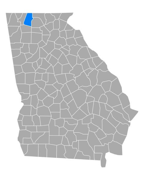 map of murray in georgia