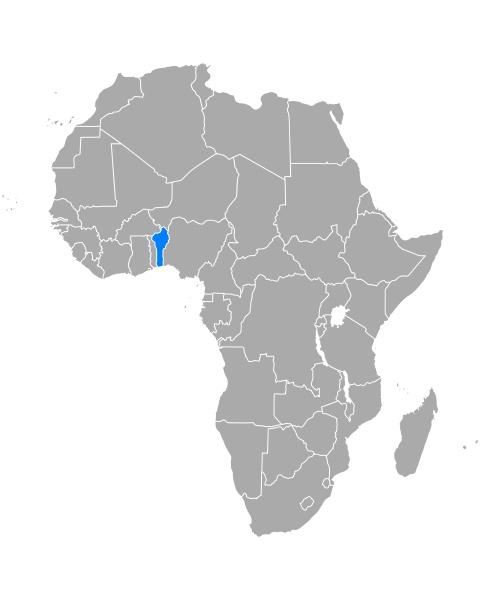 map of benin in africa