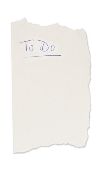 to do list on sticky note