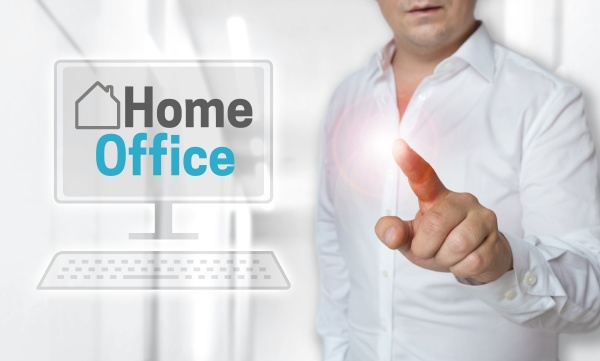 homeoffice touchscreen concept is operated by