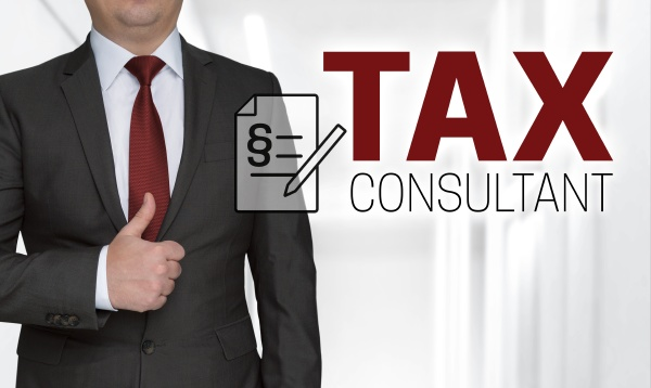 tax consultant concept and businessman with