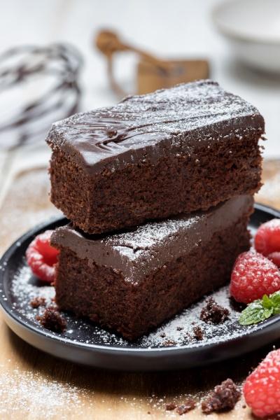 brownie with chocolate ganache