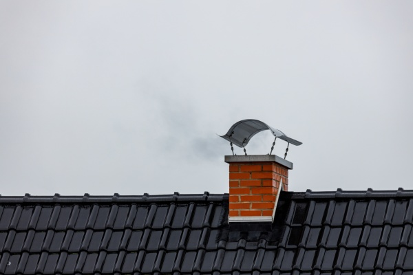 the chimney on a house