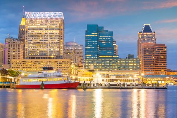 baltimore city downtown skyline usa