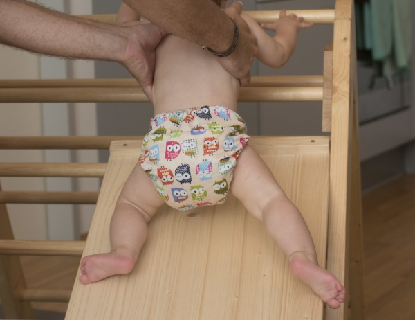 infant or baby in diaper