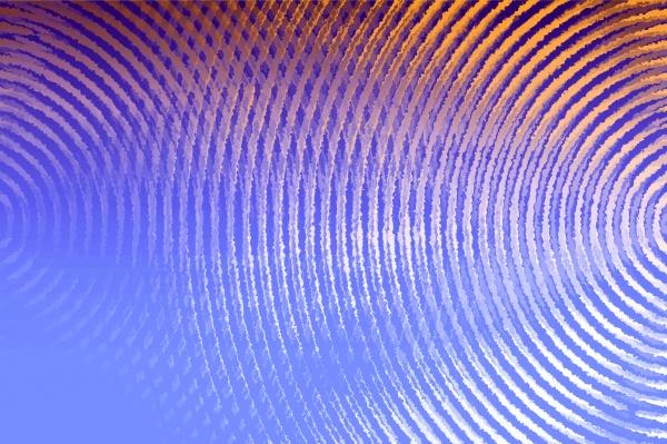 blue and orange sound waves background
