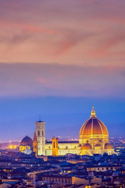 duomo and florence city downtown skyline