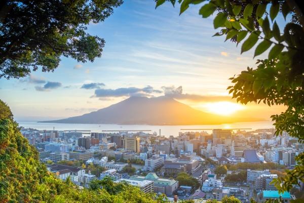 kagoshima city downtown skyline cityscape