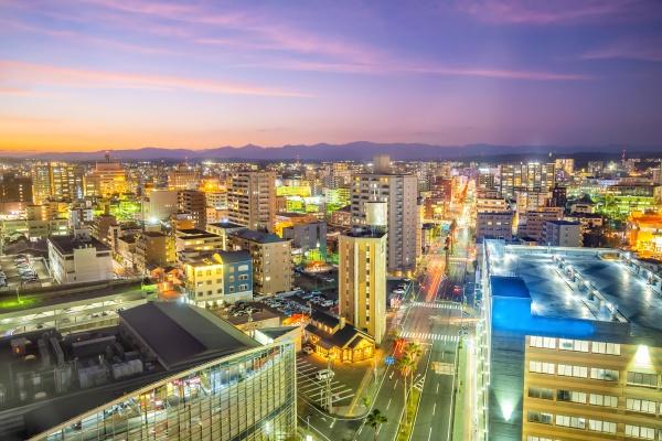 miyazaki city downtown skyline cityscape