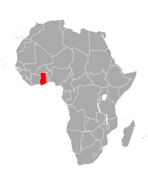map of ghana in africa