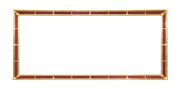 golden decorative picture frame with red