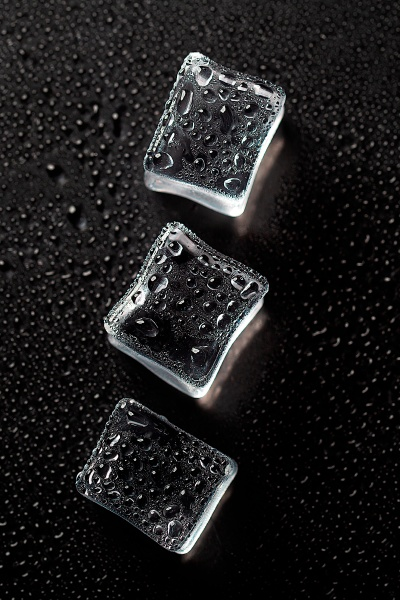 abstract creative background with ice cubes