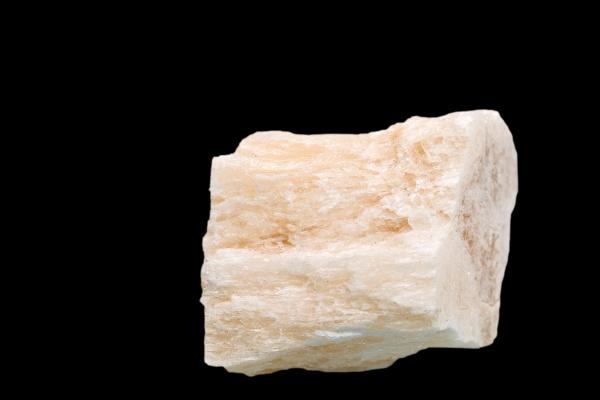gypsum closeup cut out on a