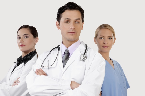 portrait of doctors and a nurse