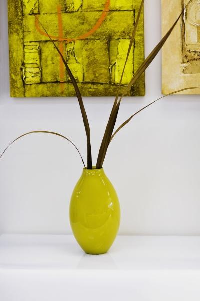 closeup of a vase on a