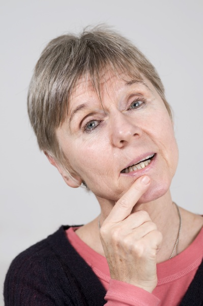 mature woman uncertain