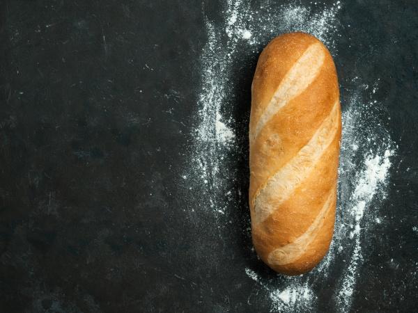 british white bloomer or baton loaf