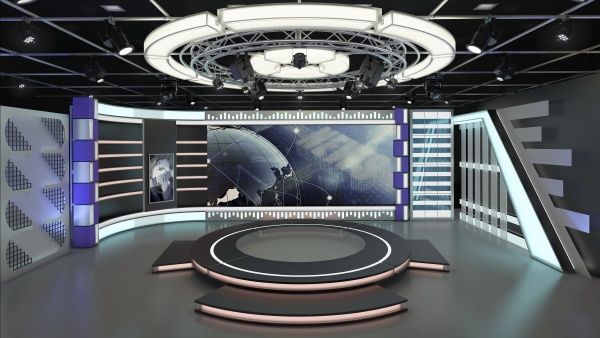 virtual tv studio news set 7