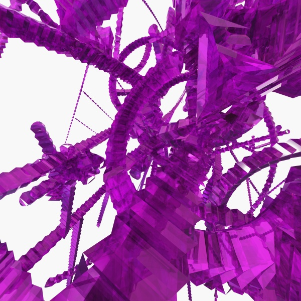 3 d purple abstract patterns on