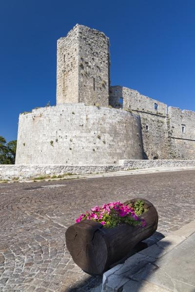 castle in monte santangelo puglia italy