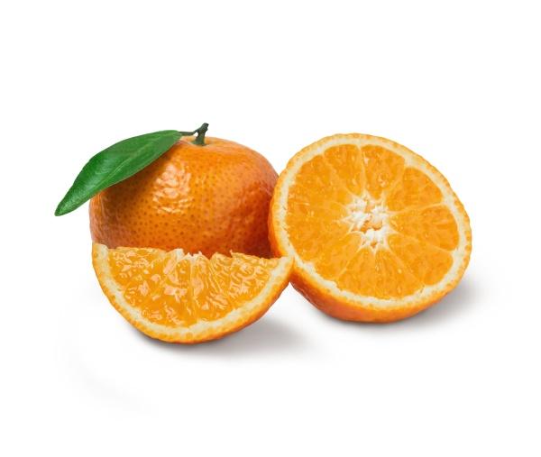 fresh orange with orange slices and