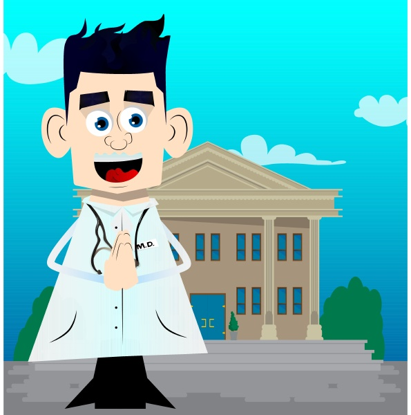 doctor with praying hands