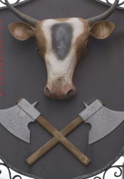 butcher, shop, sign, with, the, head - 29417741