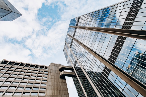 modern beautiful skyscrapers on a beautiful