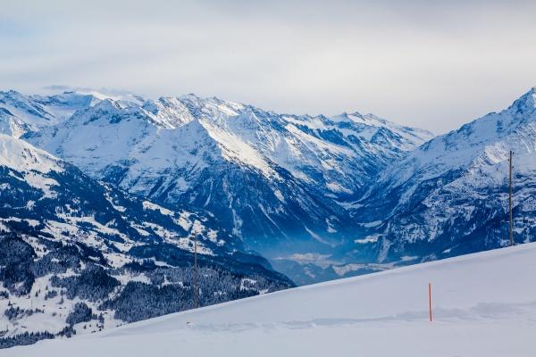beautiful mountain view snow mountain